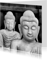 Religie kaarten - Buddha Zwart Wit - OT