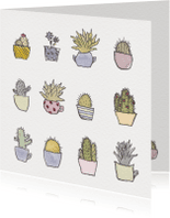 Verjaardagskaarten - Cactus en vetplant