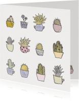 Verjaardagskaarten - Cactus patroon