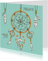 Spreukenkaarten - Catch your dreams lichtblauw