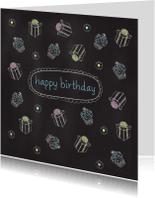 Verjaardagskaarten - Chalkboard Birthday