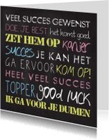 Succes kaarten - Chalkboard Succes