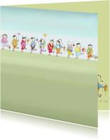 Kunstkaarten - Chinese optocht