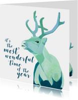 Kerstkaarten - Christmas Reindeer
