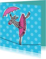 Dierenkaarten - circus konijn
