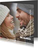Trouwkaarten - Close up van jullie blij-isf