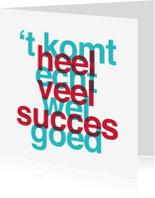 Succes kaarten - Coaching Komt Goed