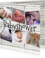 Uitnodigingen - Collage Babyshower - BK