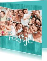Uitnodigingen - Collage Feestje! 7 foto's - BK