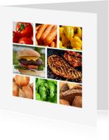 Uitnodigingen - Collage kaart etentje - DH