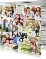 Vriendschap kaarten - Collage Kusjes liefs - BK