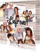Zomaar kaarten - Collage Liefs ons! - BK