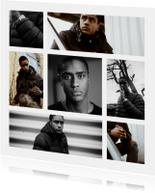 Collage Uitnodiging vierkant met 8 foto's
