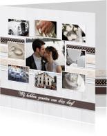 Trouwkaarten - Collagekaart Getrouwd - BK