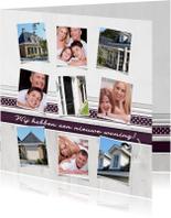 Verhuiskaarten - Collagekaart nieuwe woning - BK