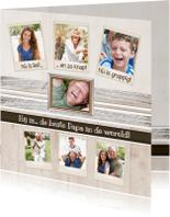 Vaderdag kaarten - Collagekaart Papa - BK