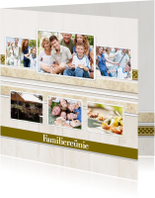 Uitnodigingen - Collagekaart Reünie - BK