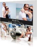 Vakantiekaarten - Collagekaart Wij zijn in... - BK