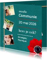 Communiekaarten - Communie anemoon foto's - DH