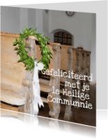 Felicitatiekaarten - communie-bankje