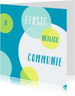 Felicitatiekaarten - Communie cirkels kleur