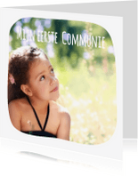 Communiekaarten - Communie collage 3 foto's - BK