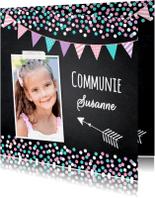 Communiekaarten - Communiekaart confetti vlag LB