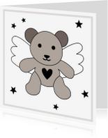 Condoleancekaarten - Condoleance-Beertje Vleugels-HK