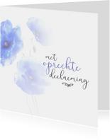 Condoleancekaarten - Condoleance - bloemen oprechte deelneming