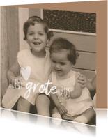 Condoleancekaarten - Condoleance foto grote zus