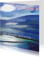 Condoleancekaarten - Condoleance kaart lucht zee