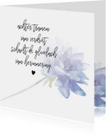 Condoleancekaarten - Condoleance - kaart met gedicht blauw