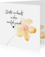 Condoleancekaarten - Condoleance - kaart met gedicht oranje