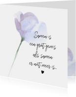 Condoleancekaarten - Condoleance - kaart met gedicht partner