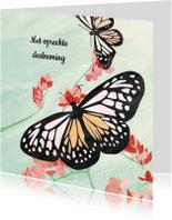 Condoleancekaarten - Condoleance kaart met vlinders