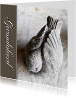 Condoleancekaarten - Condoleance kaart vogel grijs - OT
