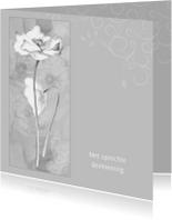 Condoleancekaarten - condoleance klaproos wit