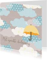 Condoleancekaarten - Condoleance met paraplu