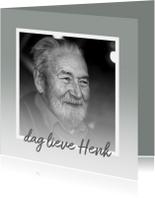 Condoleance - rouwkaart foto + waas