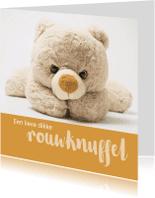 Condoleancekaarten - Condoleance rouwknuffel kind
