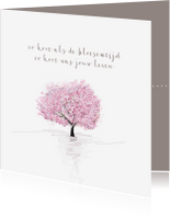 Condoleancekaarten - Condoleance zo kort als de bloesemtijd