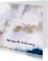 Condoleancekaarten - Condoleancekaart, aquarel, abstracte wolken en zonnestraal