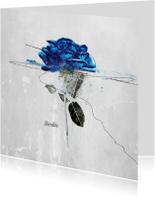 Condoleancekaarten - Condoleancekaart Blauwe Roos Sterkte