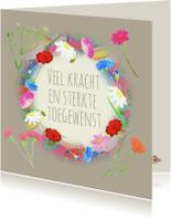 Condoleancekaarten - Condoleancekaart bloemen PA