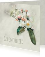 Condoleancekaarten - Condoleancekaart Bloesem - A