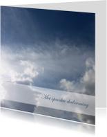 Condoleancekaarten - Condoleancekaart donkere wolken2