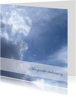Condoleancekaarten - Condoleancekaart donkere wolken3