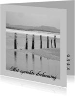 Condoleancekaarten - condoleancekaart foto paalhoofd