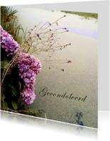 Condoleancekaarten - Condoleancekaart - Hortensia bij een sloot