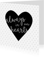 Condoleancekaarten - Condoleancekaart modern always